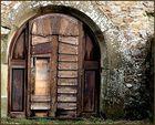 """Eine """"Tür"""" auf der Burgruine Lichtenberg...."""