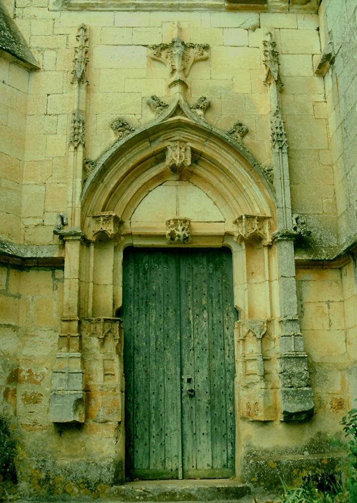 Eine Türe an der Dordogne
