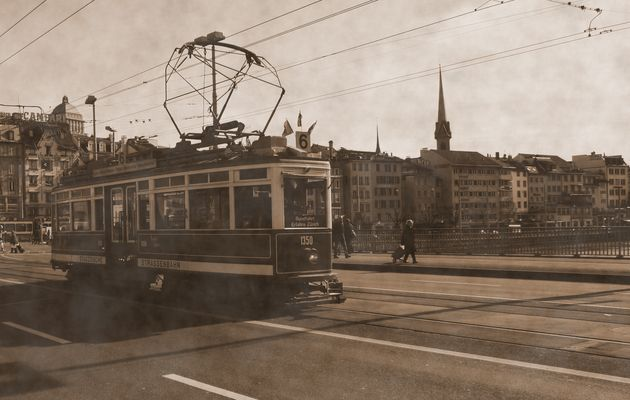Eine von den ältesten Strassenbahn in Zürich