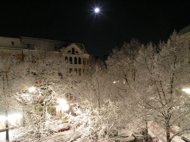 Eine winter nacht in Hamburg