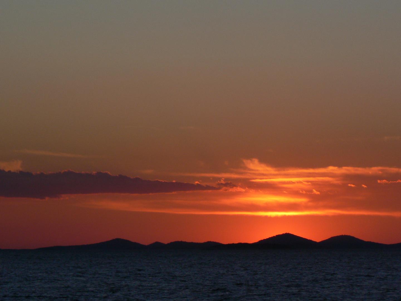 einem abend am Adriatische Strand