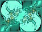 Einen Augenblick verzaubert in ein grünes Farbenspiel