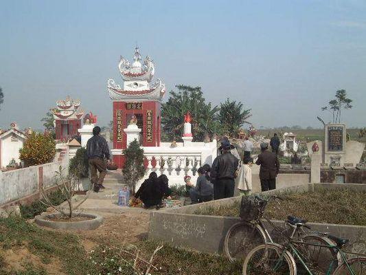 Einen Vietnamese Familien Friedhof