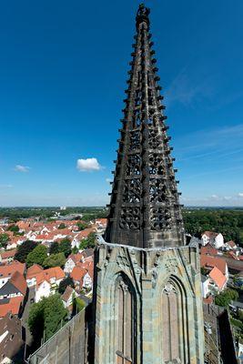 Einer der beiden Türme der Wiesenkirche in Soest