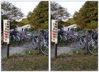 Einer der Fahrradparkplätze der Chuo-Universität