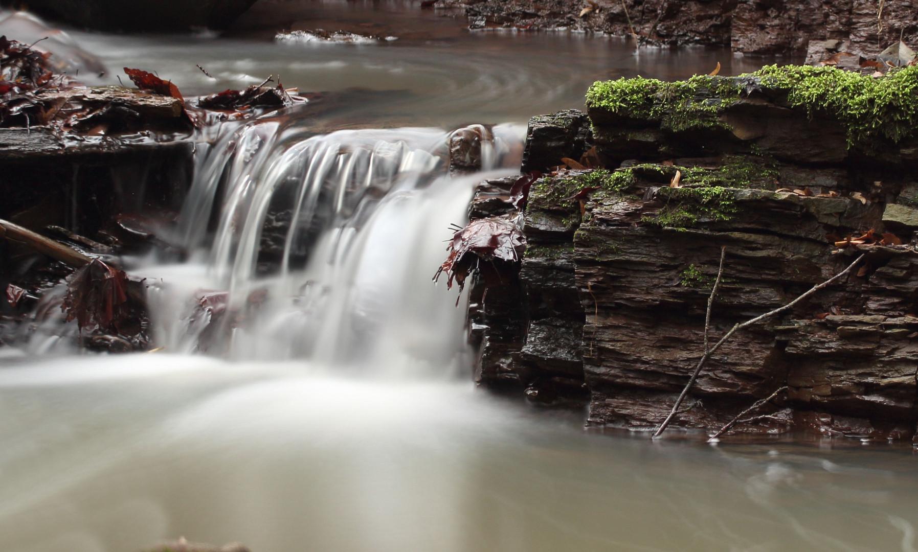 Einer der größten Wasserfälle im Steigerwald :-)