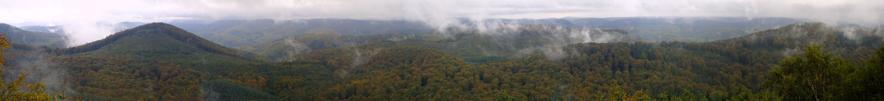 Einer der schönsten Ausblicke auf den Pfälzer Wald