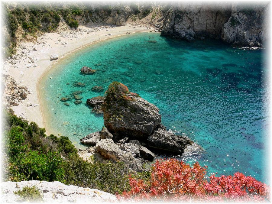 Einer der Schönsten Strände auf Corfu.