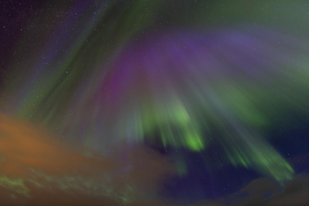 Eines der ersten Nordlichter der Saison