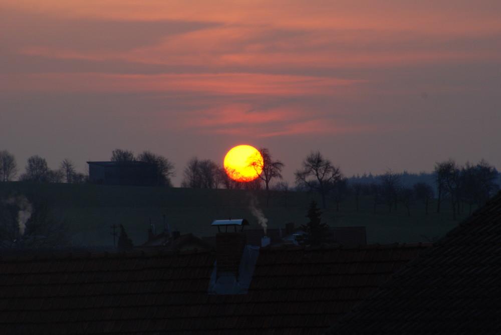 Eines Morgens, als die Sonne aufging...
