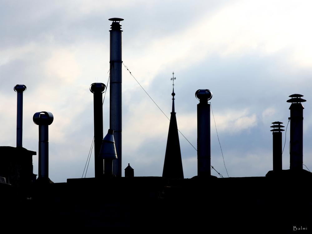 """""""Einfach """"hinauf""""… bis der Blick… auf die-... und über die Dächer reicht..."""""""