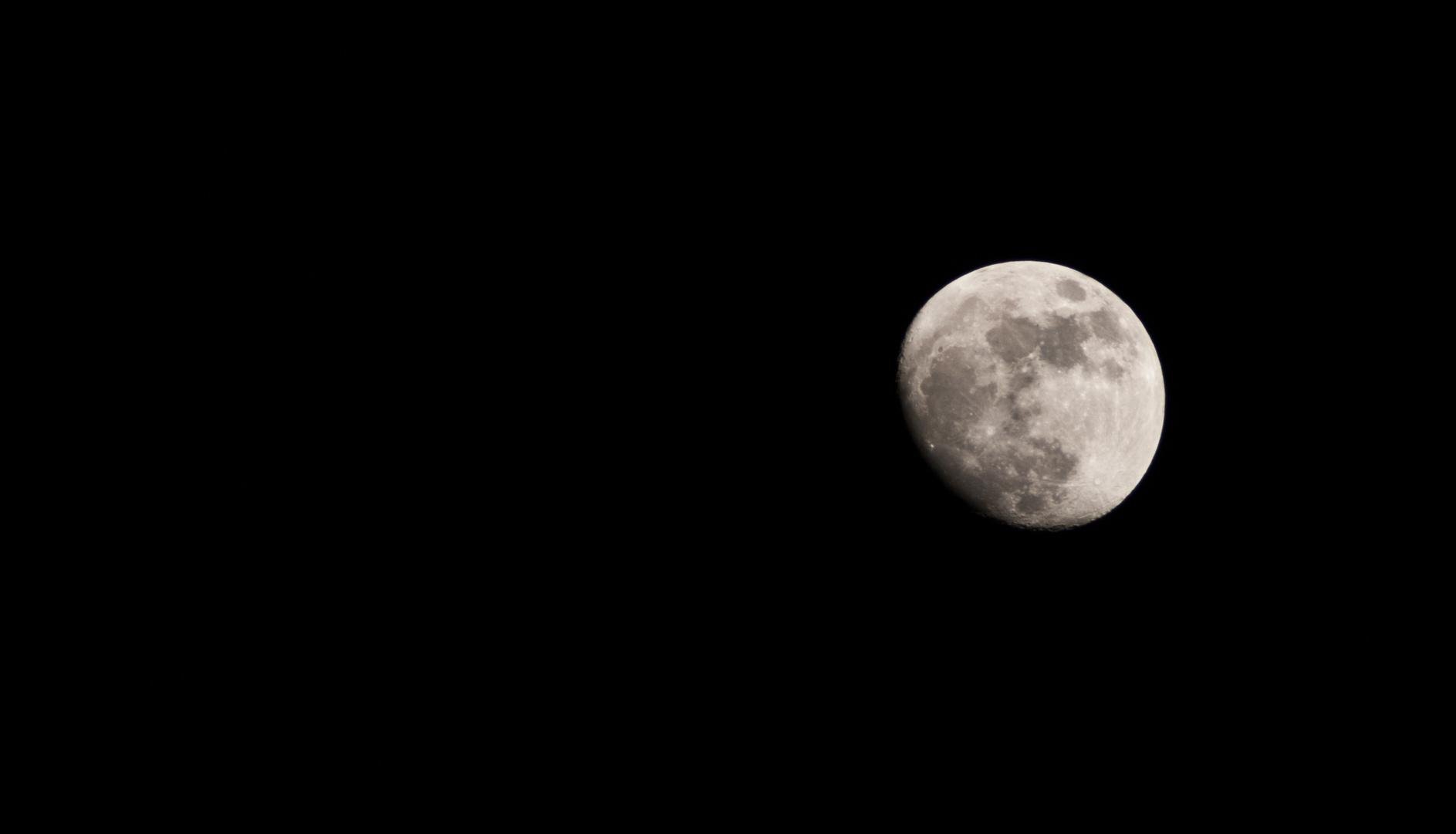Einfach nur der Mond ...