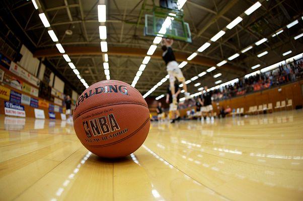 Einfach nur ein Basketball