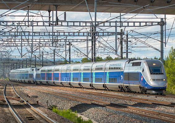 Einfahrt Aix en Provence (TGV)