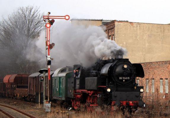Einfahrt Bahnhof Zeitz