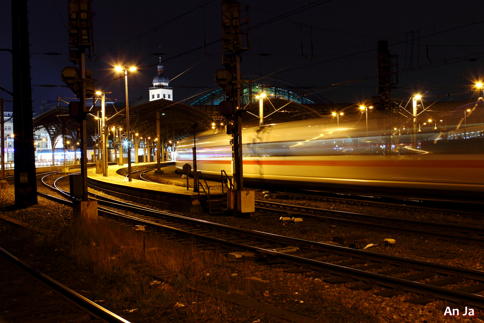 Einfahrt ICE Hauptbahnhof Köln