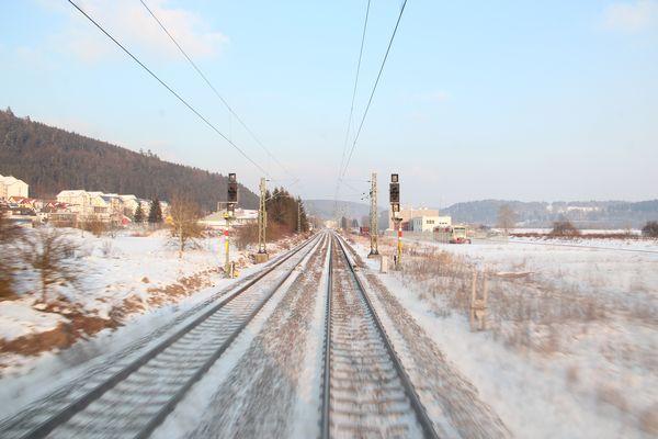 einfahrt im schneehaften Immendingen