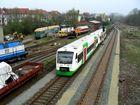 Einfahrt in den Bahnhof Ilmenau