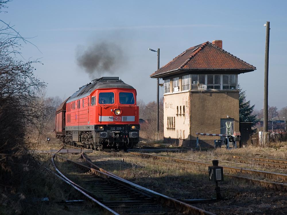 Einfahrt in den Bahnhof Meuselwitz