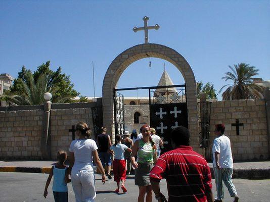 Eingang der Koptischen Kirche in Hurghada
