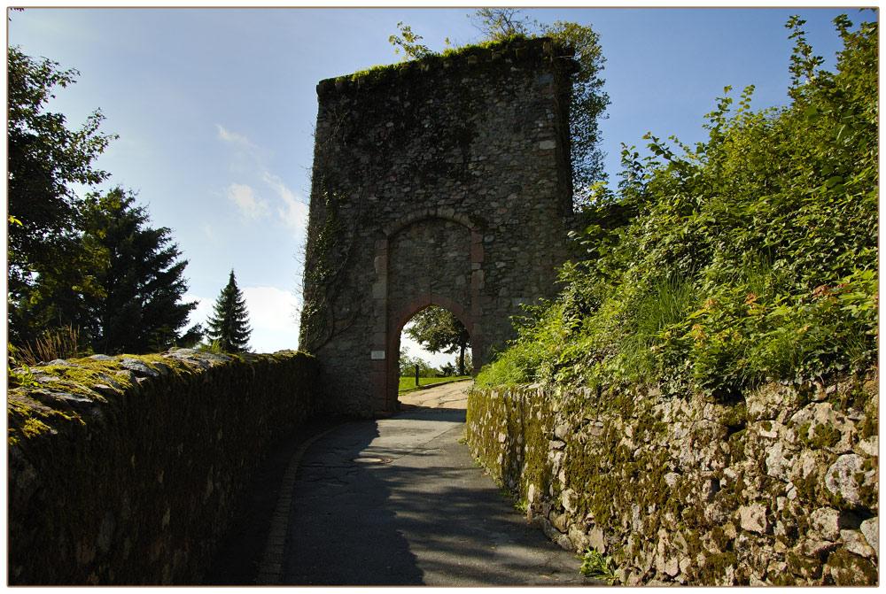 Eingang zur Burg Lindenfels