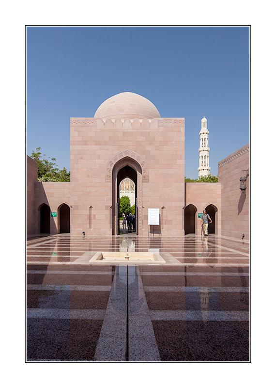 Eingang zur Sultan Qabus Moschee in Muscat/Oman