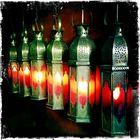 Eingangsbeleuchtung zum Restaurant