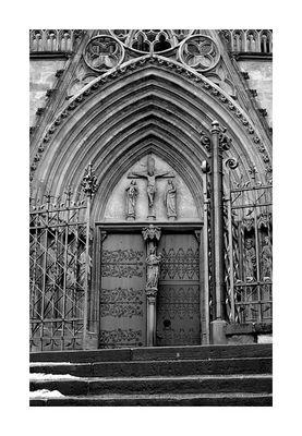 Eingangsportal des Erfurter Doms