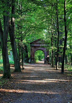 Eingangstor zum Grünfelder Park