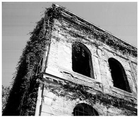 Eingefallenes Haus im Plovdiv