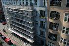 Eingerüstete Altberliner Fassade
