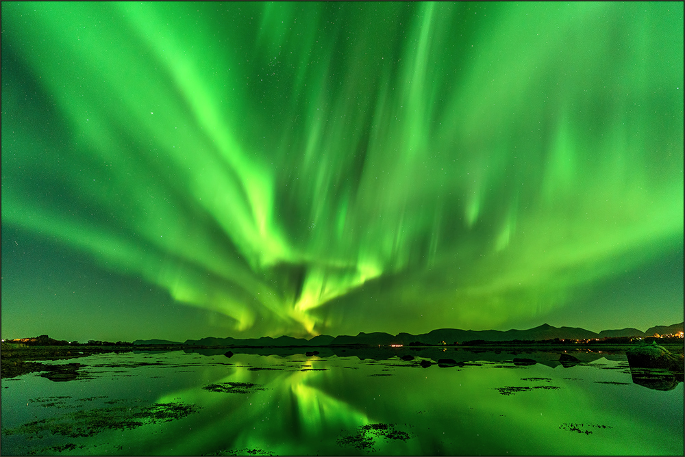Eingetaucht in grünes Licht