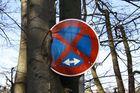 Eingewachsenes Schild am Großensee