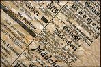 Einhundert Jahre altes Zeitungspapier aus der Schweiz.