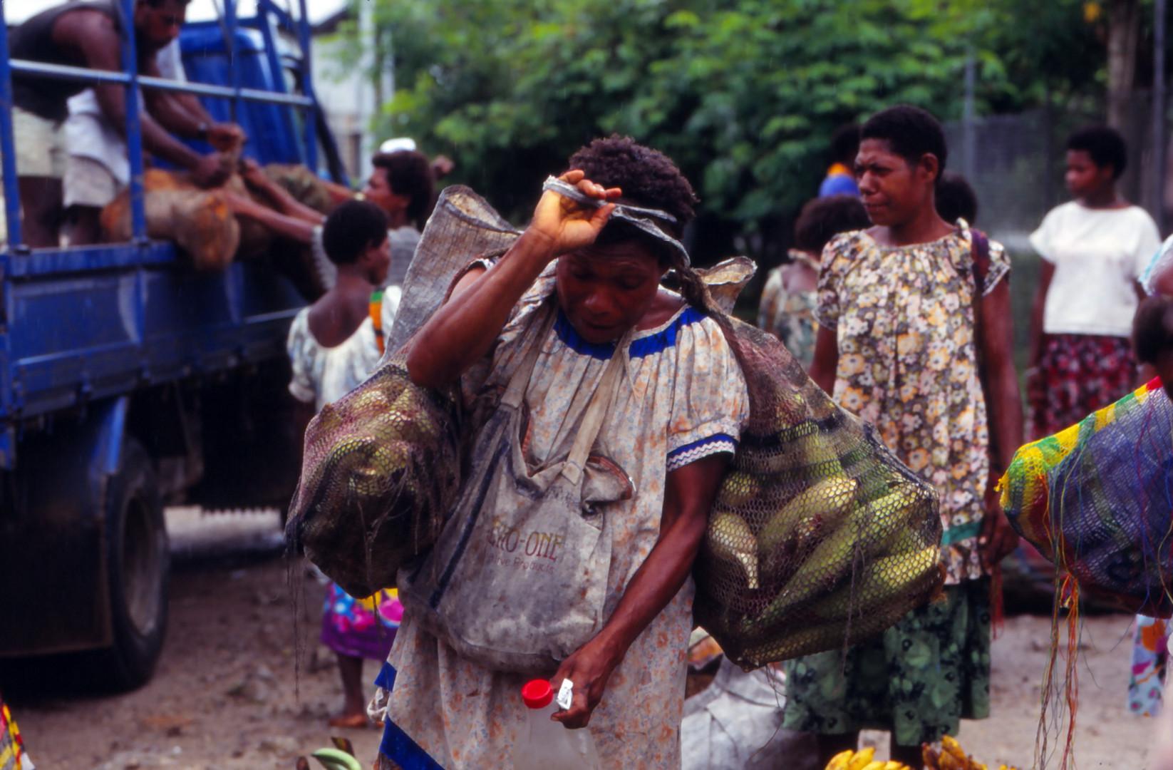 Einkauf auf Papua -Neuguinea