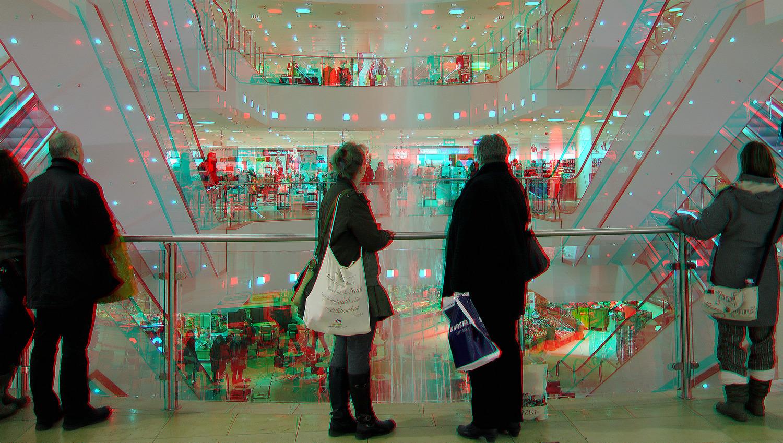 Einkauf & Show (3D-Foto)