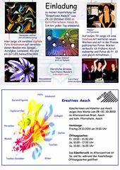 Einladung an Henry's Ausstellung von digitalen Kreationen