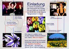 Einladung zu meiner Austellung an der Kulturnacht in Aesch 2009