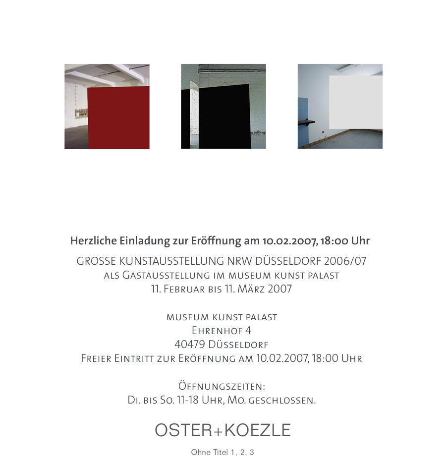 einladung zur vernissage am 10.2.07 im museum kunst palast foto, Einladung