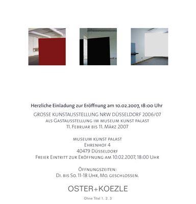 Einladung zur Vernissage am 10.2.07 im museum kunst palast