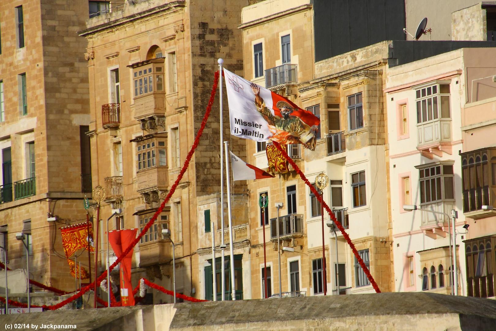 Einlaufen in den Naturhafen Malta