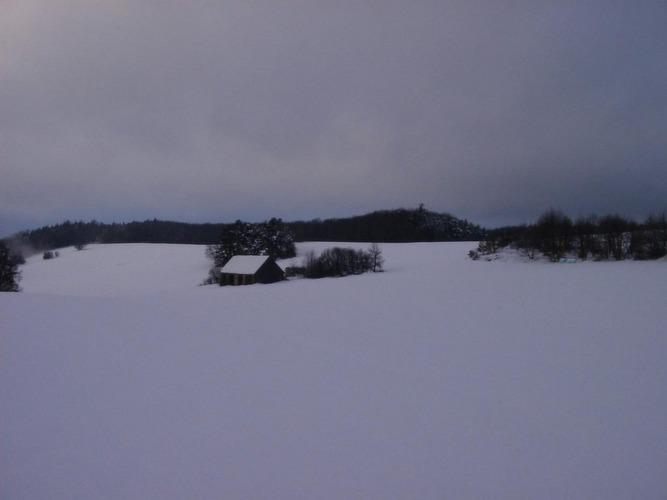 einöd im winter