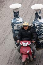 Eins der 1,5 mio. Mopeds in Hanoi