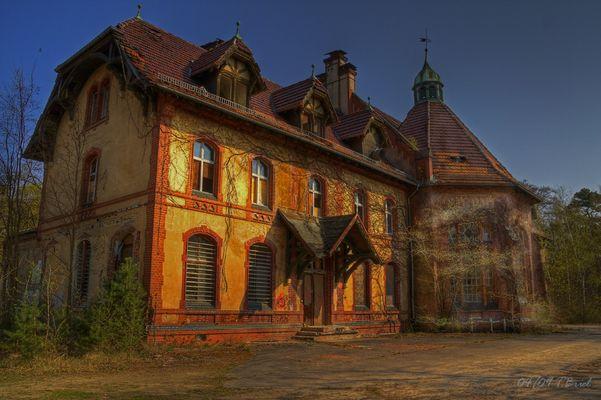 Eins der Beelitzhäuser
