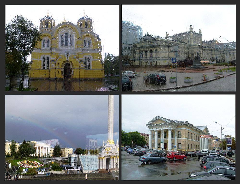 Eins hab ich noch:-(( Kiew im Regen und das auch noch.....