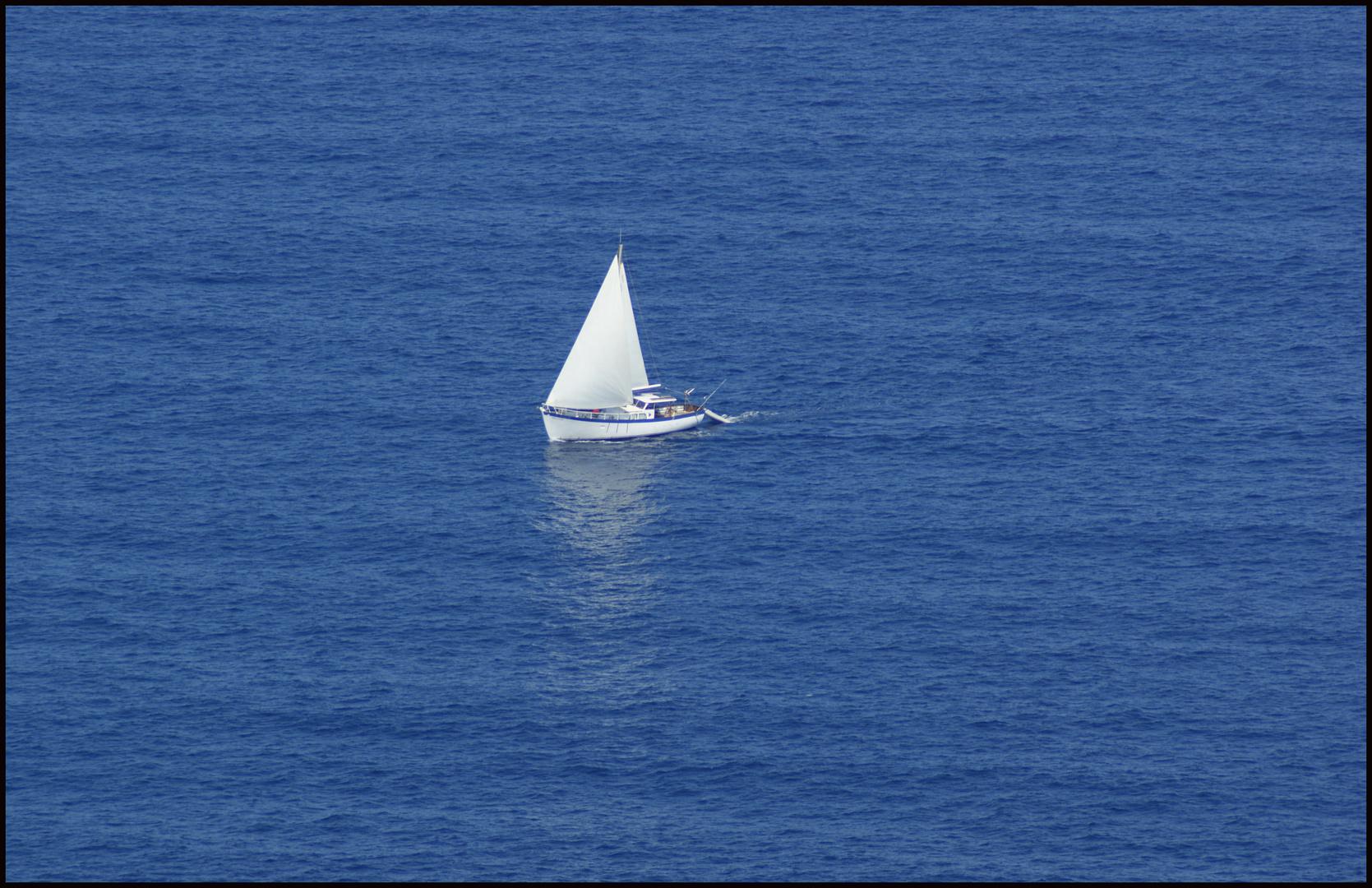 einsam auf hoher See
