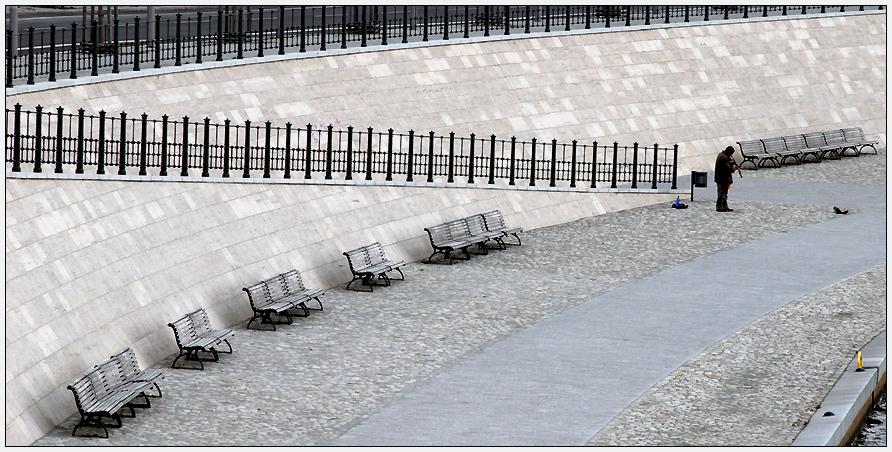 Einsam im Regierungsviertel