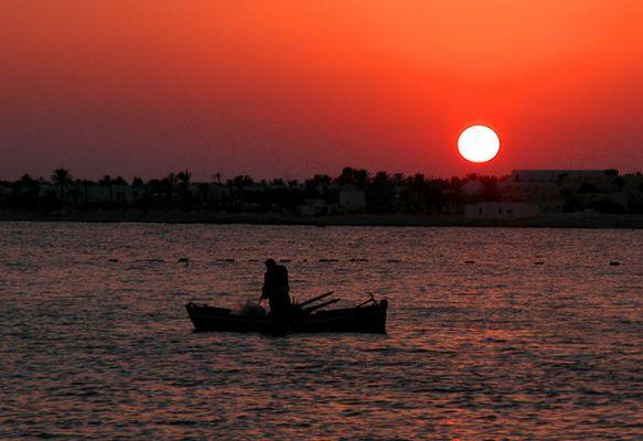 Einsam im Sonnenuntergang, wer wünscht sich das nicht?