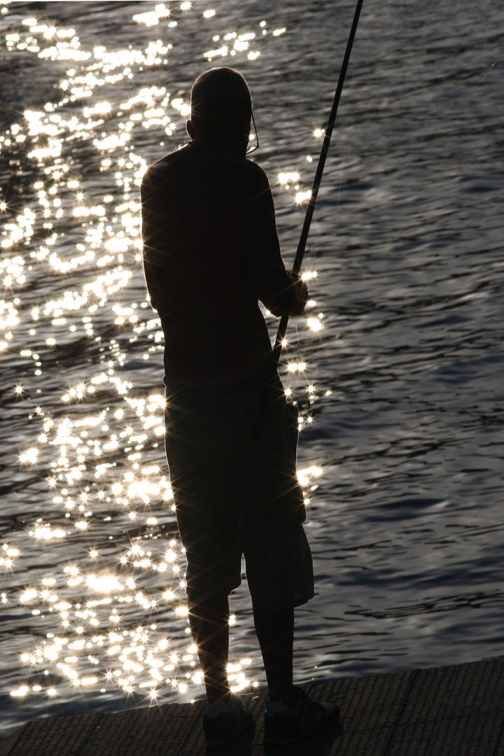 Einsame Angler