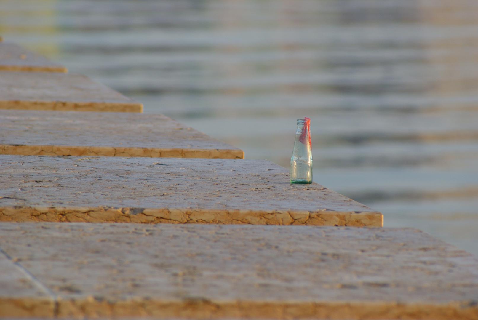 Einsame Flasche